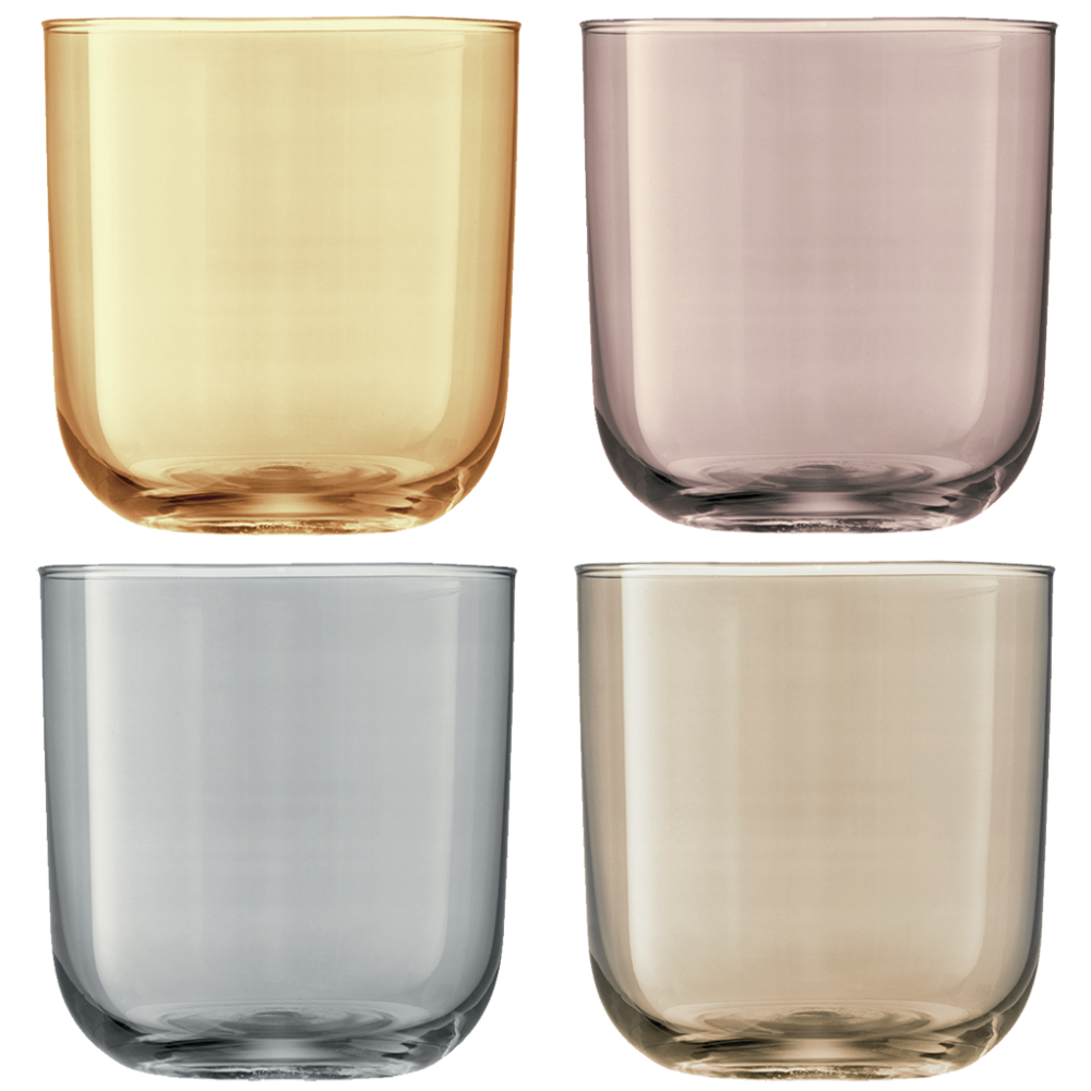 Polka Tumbler Metallics Assorted Set of 4 pcs