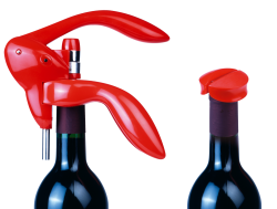 "Giftset t.m. ""L'ATELIER DU VIN"": сorkscrew and foil cutter ""Emergency (red) 095105"