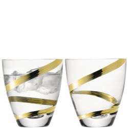 Malika Grand Tumbler Gold Spiral Set of 2 pcs