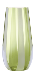 Gessato Vase (Apple green)