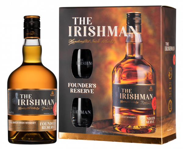 The Irishman Founder's Reserve + 2 glasses  in gift box
